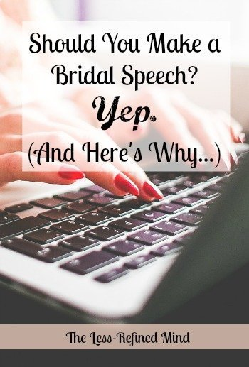 Bridal Speech