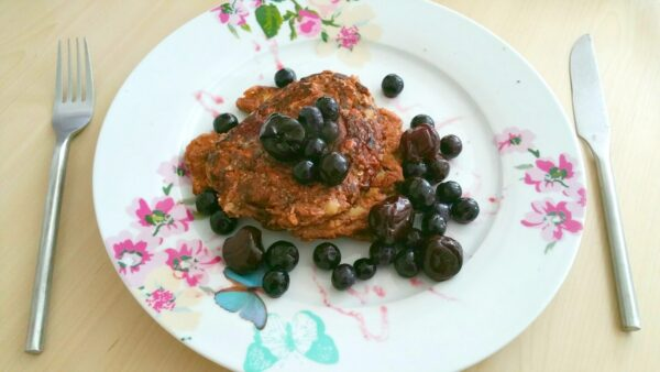 Healthy and Delicious Blackforest Protein Pancakes!