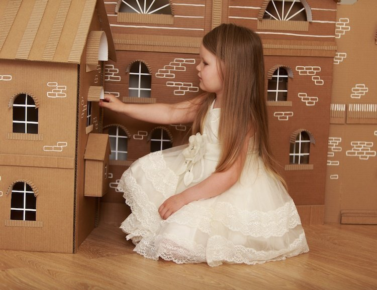 Indoor Fun for Kids - Cardboard Castle