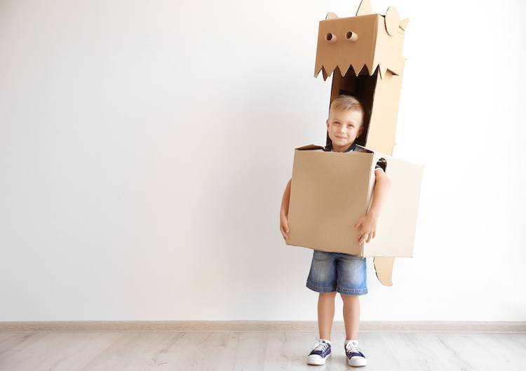 Indoor Fun for Kids - Cardboard Robot