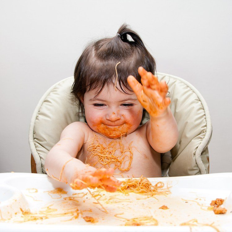 Baby Led Weaning Mess!