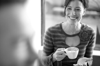 Compliment a Stranger - Woman Drinking Coffee