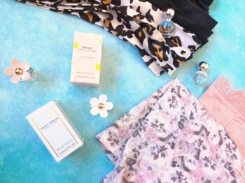 Be Gentle With Yourself - Pyjamas and Perfume Flatlay