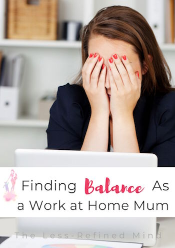 Finding balance as a WAHM can be tough, even when you know it's the best arrangement for your family, but sometimes burnout is preferable to spiralling into depression. #burnout #wahm #balance #selfemployed #workingmum #selfcare #wellbeing #wellness #mentalhealth