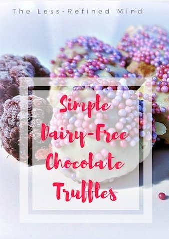 Dairy-free chocolate truffles perfect for Christmas!
