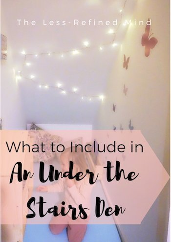 What should you include in an understairs den? Here's how we created our perfect reading space under the stairs!