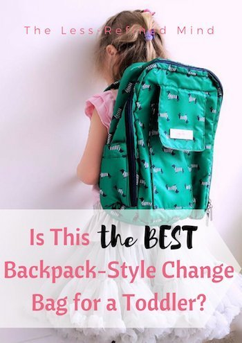 Is this the best backpack style change bag on the market? Technically, no - but it may just be the perfect backpack change bag for a #toddler! #changingbag