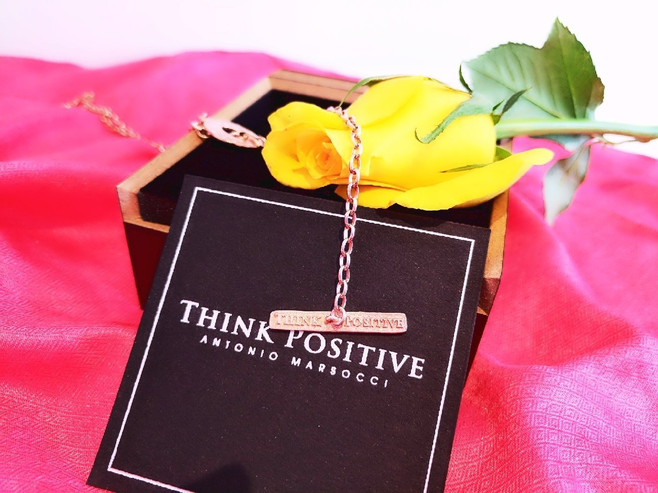 Think Positive Chain with Rose