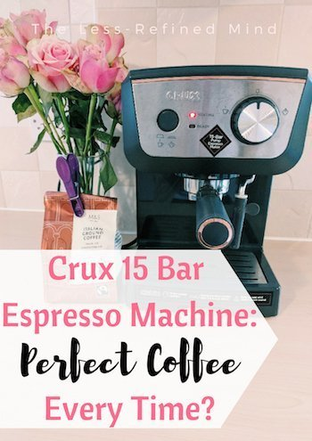 Are you looking for a cheap espresso coffee machine to use at home and want to be sure you choose the best coffee machine? Read this Crux 15 bar espresso coffee machine review to see if this is the one for you! #coffee #espresso #espressomachine