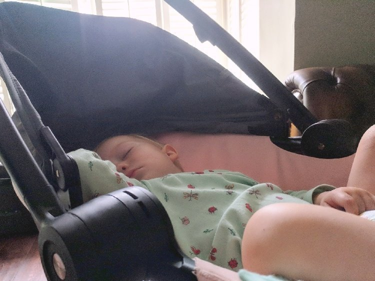 Quinny Zapp Flex Plus Review - Sleeping Baby