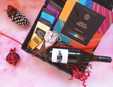 Green & Blacks Chocolate and Wine Hamper