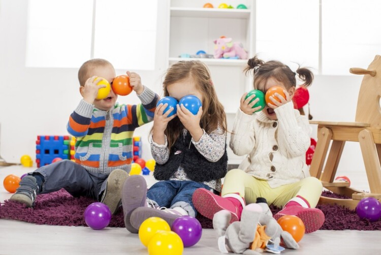 Indoor Fun for Kids - Children Playing With Balls