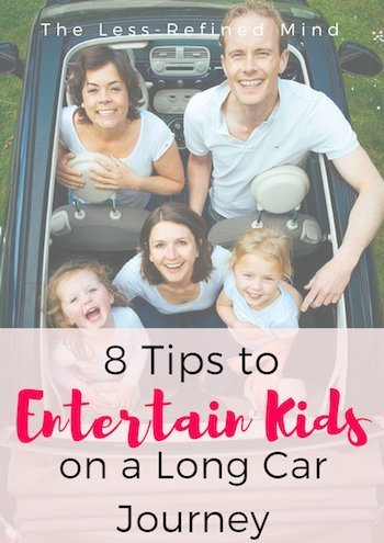 8 tips for keeping kids entertained in the car. Fun ways to prevent boredom on a long journey. #entertainkids #carjourney #cargames #portablegames