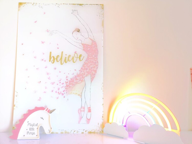 The Perfect Bedroom for a Little Girl - Ballet Dancer Print