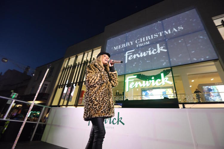 Megan McKenna performs at Fenwick's Festive Showcase during the Colchester Christmas Lights Switch-On 2018