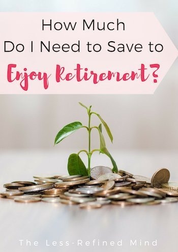 How much should you be saving to enjoy your retirement without worrying about having a shortfall in income? #retirement #moneysaving