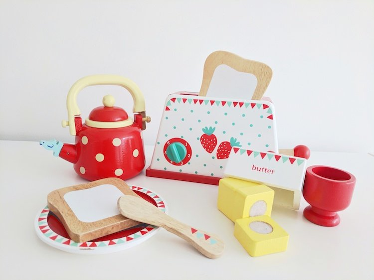 Wooden Toys for Babies - Kettle and Toaster