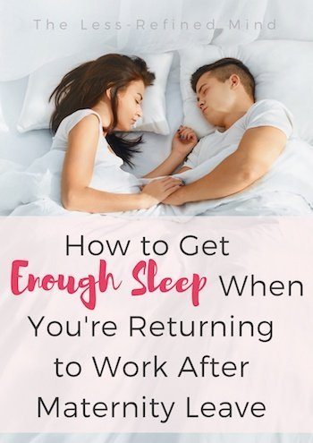 Returning to Work After Maternity Leave - Couple in Bed, Pin