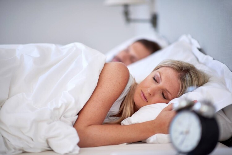 How to Night Wean - Couple Sleeping
