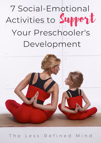 Activities to help preschoolers develop and regulate their emotional feelings and wellbeing. #preschoolactivities #emotionaldevelopment #wellbeing #preschoolers #preschoolcrafts