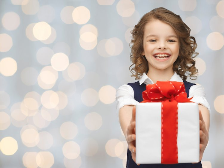 Girl Giving Gift