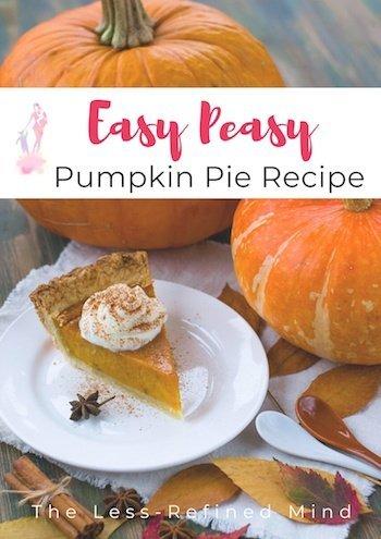 Easy peasy pumpkin pie - perfect for autumn! #autumnbaking #pumpkinrecipes #pumpkin #pumpkinpie