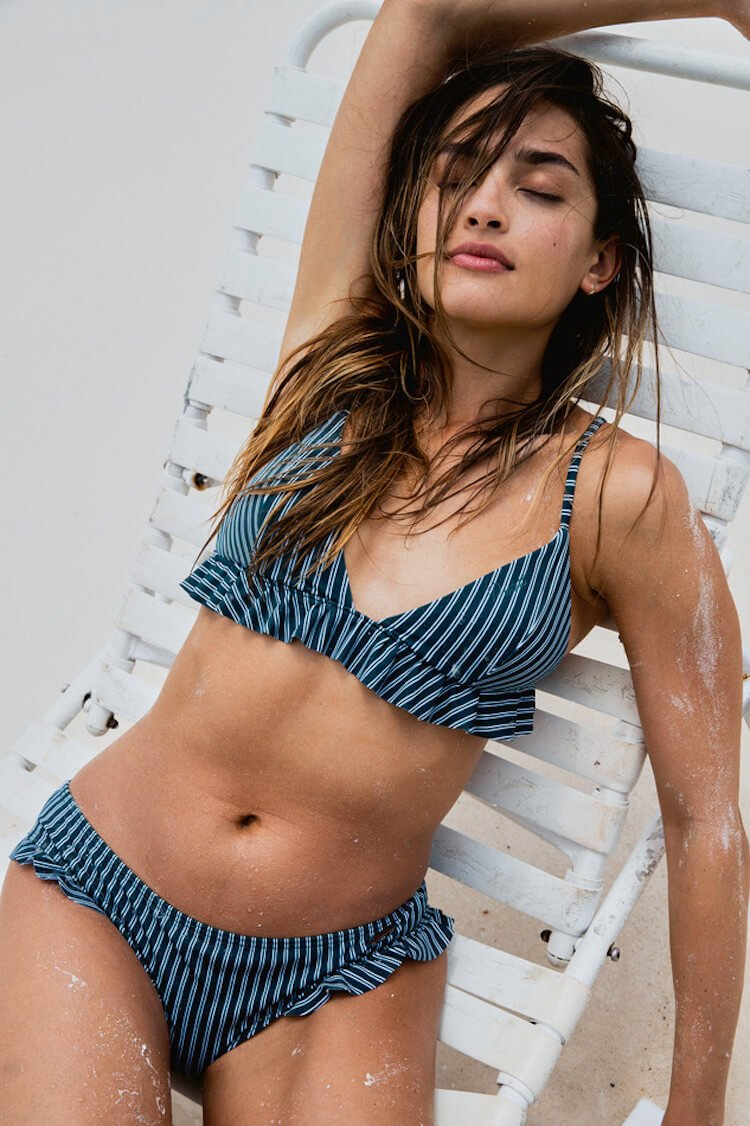 Vintage Striped Bikini