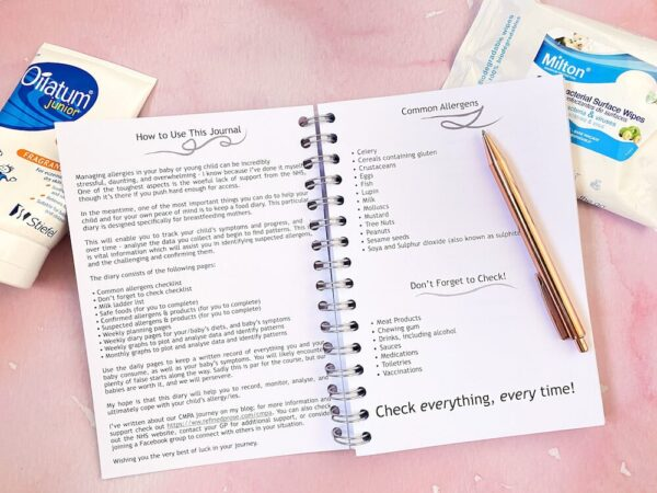 Breastfeeding Food Allergy Diary - how to use this diary.