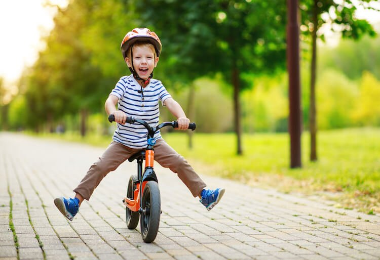 Boy on Balance Bike