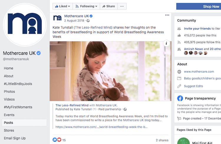 Mothercare Breastfeeding Guest Post