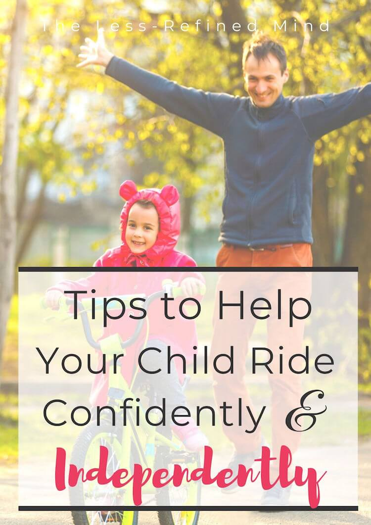 Tips to help your child ride a bike confidently and independently, including the best option for a first purchase, and what age to get started on a balance bike. #blancebike #bikeriding #learntocycle #cyclingforkids #cyclingtips #cyclingtipsforkids