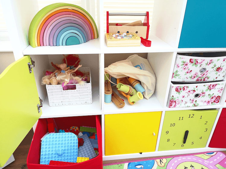 Low Level Playroom Toy Storage