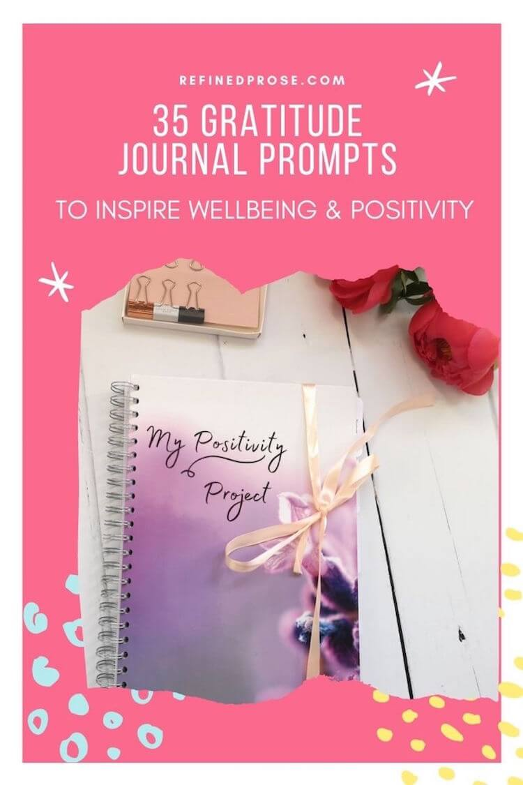 Gratitude journal prompts for self discovery, pin.