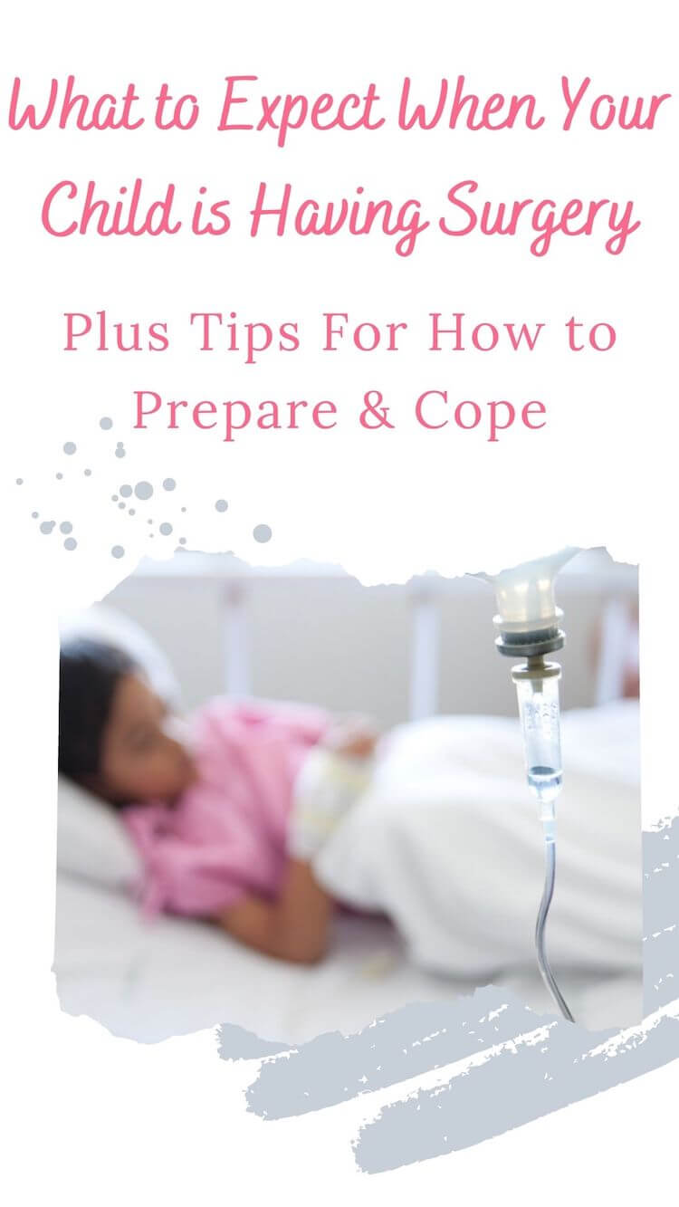 How to cope with kid's surgery pin.