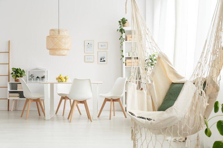 Living slowly   Image shows a Scandinavian-designed dining room.
