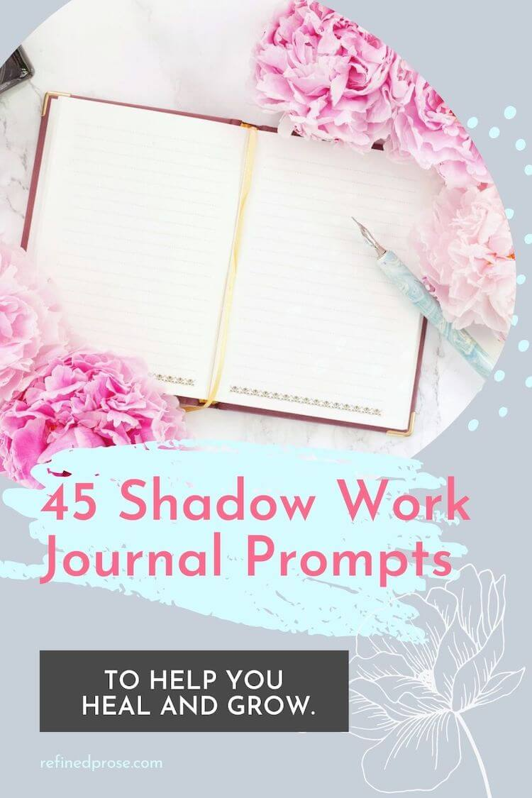 Shadow work journaling prompts pin