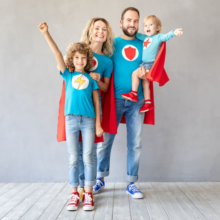Superhero family.