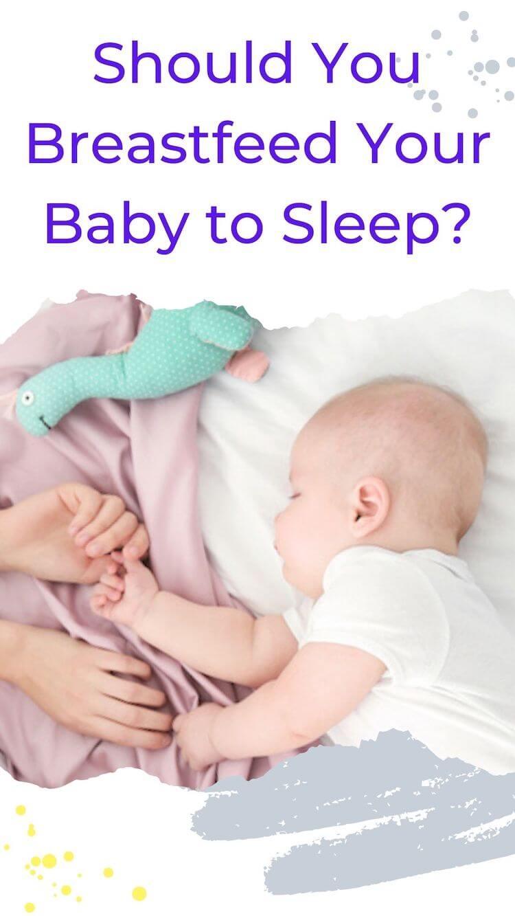 Breastfeeding baby to sleep pin.