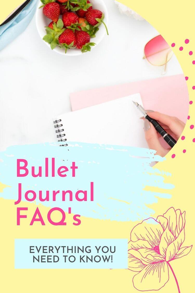 Bullet journal pin
