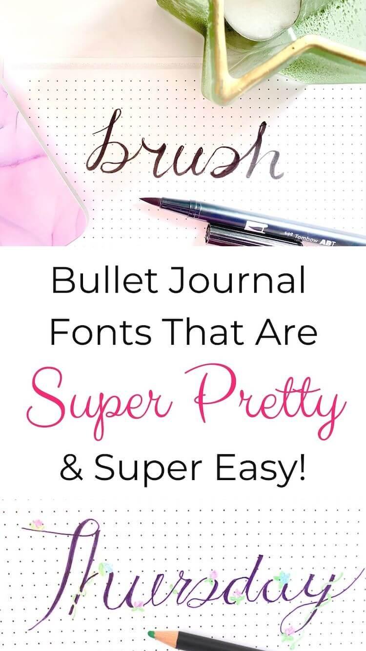 Bullet journal fonts pin.