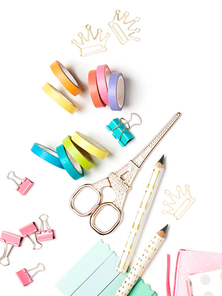 Washi tape and journaling accessories.