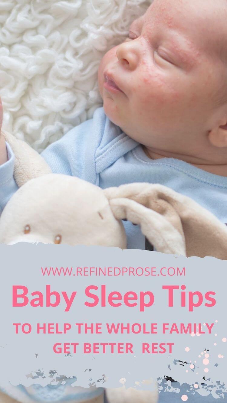 Baby sleep tips pin