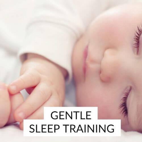 Gentle sleep training | Image shows a sleeping baby.