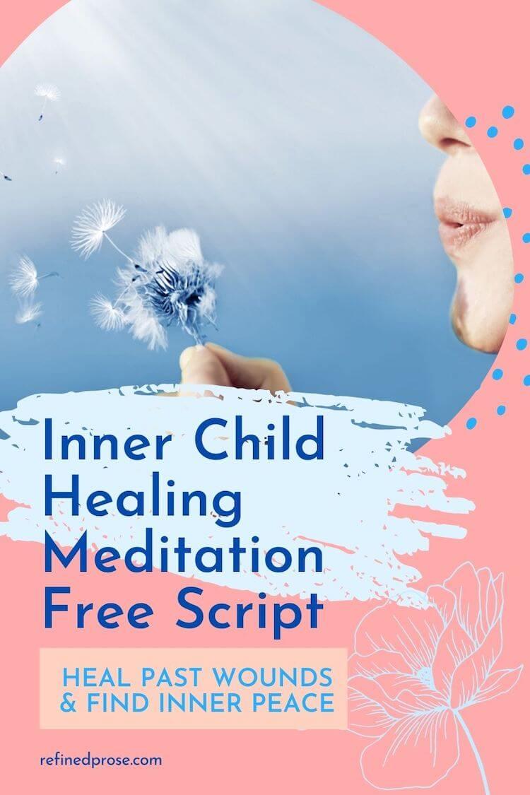 Inner child healing meditation pin