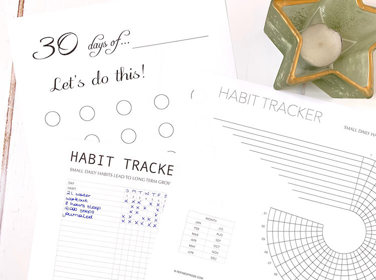 Bullet journal habits tracker printables.