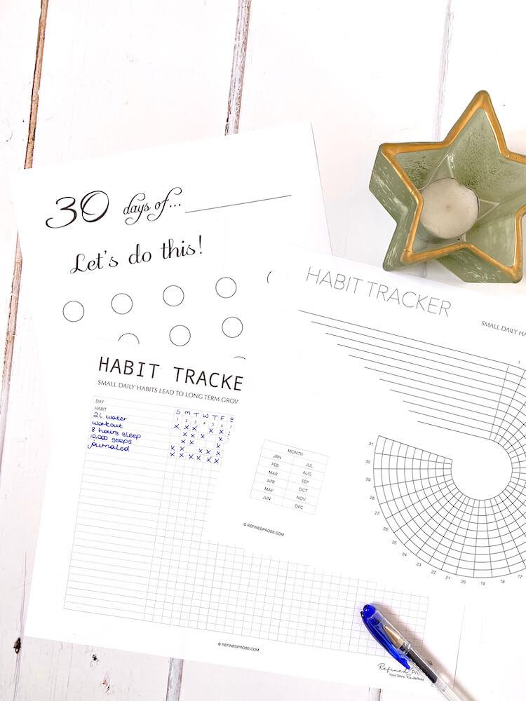 Habits tracker printables.