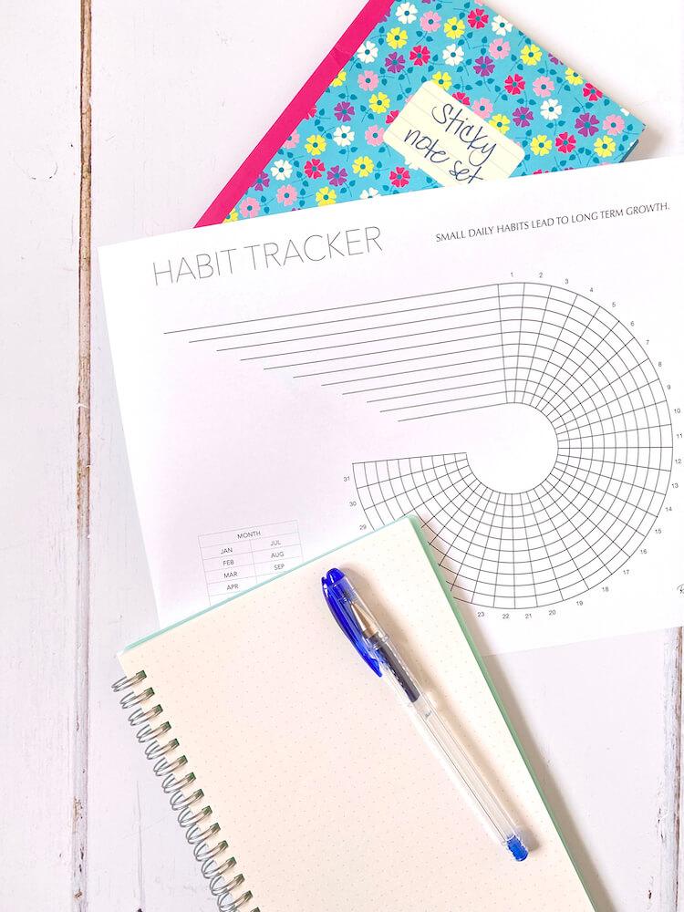 Mandala habit tracker.